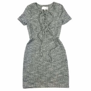 J.O.A. Lace Up Bodycon Dress Sz XS